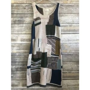 [Anthropologie] Sleeping on Snow Patchwork Dress